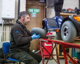 stechford mobility carrying out mobility scooter repair