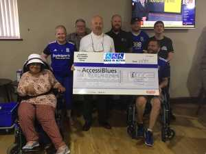 Ideas in Action donate £1000 to Accessiblues